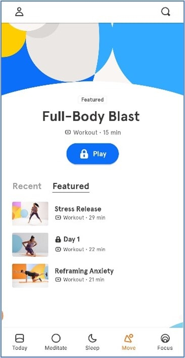 Headspace workouts