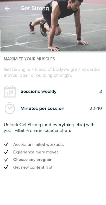 workout routines fitbit