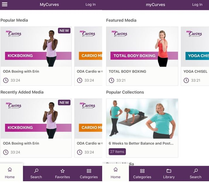 mycurves workouts