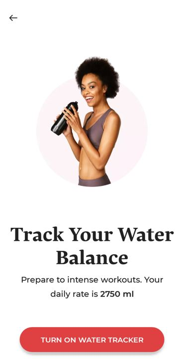 betterme water tracking